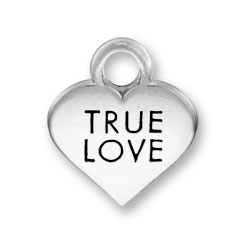 Thin True Love Heart Charm Image