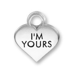 Thin Im Yours Heart Charm Image