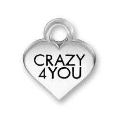 Thin Crazy 4 You Heart Charm Image