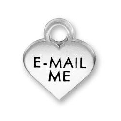 Thin E Mail Me Heart Charm Image