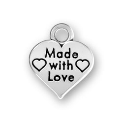 Made With Love Heart Charm Image