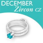 Birthstone Ring Charm December Zircon Cz Image