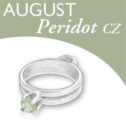 Birthstone Ring Charm August Peridot Cz Image