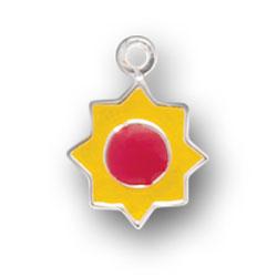 Orange Enamel Sun Charm Image