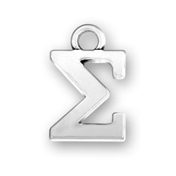Greek Alphabet Sigma Charm Image
