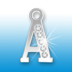 Letter A Initial Charm With Crystals Image