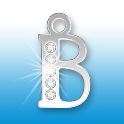 Letter B Initial Charm With Crystals Image