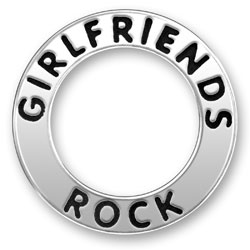 Girlfriends Rock Message Ring Image