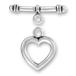 Sterling Silver Heart Toggle And Bar Image