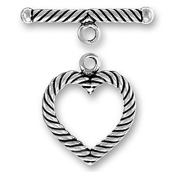 Large Twist Wire Heart Toggle And Bar Image