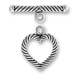 Medium Twist Wire Heart Toggle And Bar Image