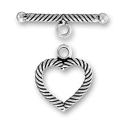 Small Twist Wire Heart Toggle And Bar Image