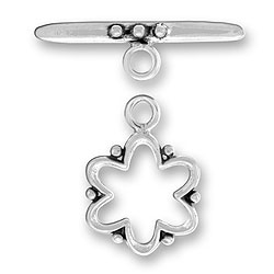 Beaded Flower Toggle And Bar Image