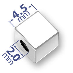 45mm Blank Alphabet Bead Image