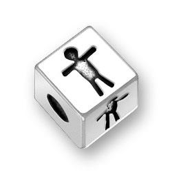45mm Boy Symbol Bead Image