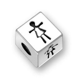 45mm Girl Symbol Bead Image