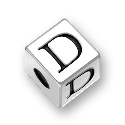 45mm Alphabet Letter D Bead Image
