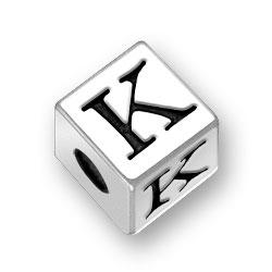 45mm Alphabet Letter K Bead Image