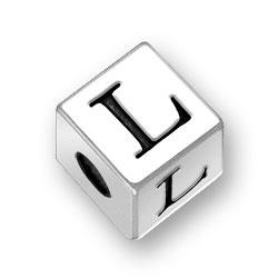 45mm Alphabet Letter L Bead Image