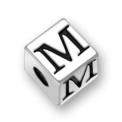 45mm Alphabet Letter M Bead Image