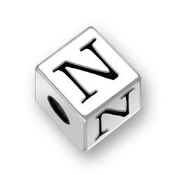 45mm Alphabet Letter N Bead Image
