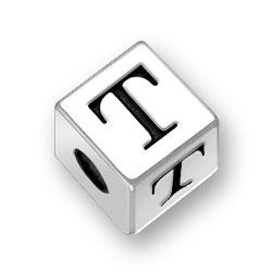 45mm Alphabet Letter T Bead Image