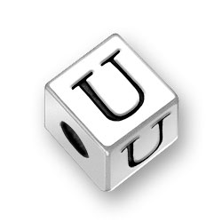45mm Alphabet Letter U Bead Image