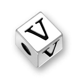 45mm Alphabet Letter V Bead Image