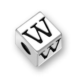 45mm Alphabet Letter W Bead Image