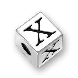 45mm Alphabet Letter X Bead Image