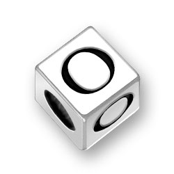 45mm Square Number 0 Zero Bead Image