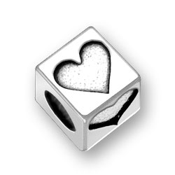 45mm Square Heart Bead Image