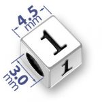 45mm Square Number 1 One Bead Image