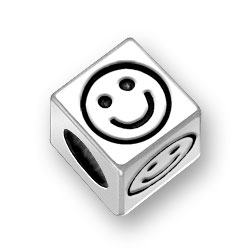 45mm Square Smiley Bead Image