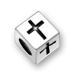 45mm Square Cross Bead Image