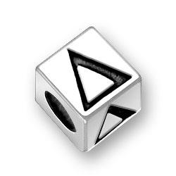 45mm Greek Delta Alphabet Bead Image