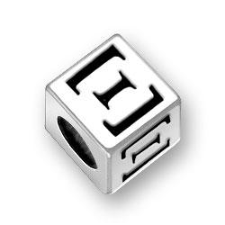 45mm Greek Xi Alphabet Bead Image