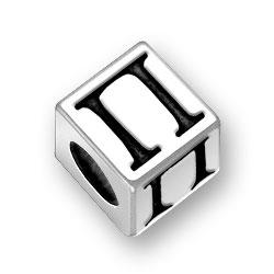 45mm Greek Pi Alphabet Bead Image