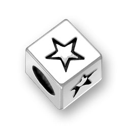 45mm Square Double Star Bead Image