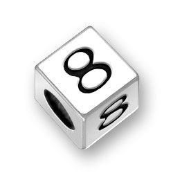 45mm Square Number 8 Eight Bead Image