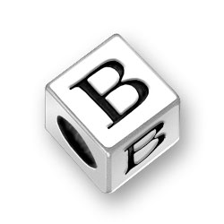 45mm Square Alphabet Letter B Bead Image