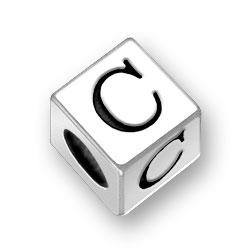 45mm Square Alphabet Letter C Bead Image