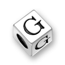 45mm Square Alphabet Letter G Bead Image