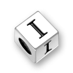 45mm Square Alphabet Letter I Bead Image