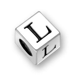 45mm Square Alphabet Letter L Bead Image