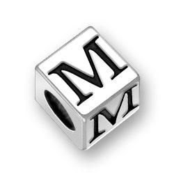 45mm Square Alphabet Letter M Bead Image