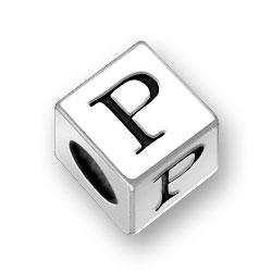 45mm Square Alphabet Letter P Bead Image