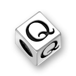 45mm Square Alphabet Letter Q Bead Image