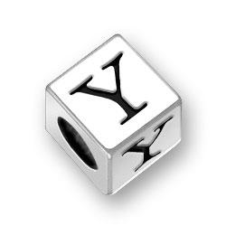 45mm Square Alphabet Letter Y Bead Image