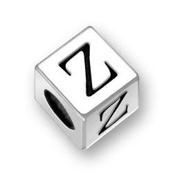 45mm Square Alphabet Letter Z Bead Image